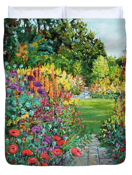 Landscape With Poppies Duvet Cover