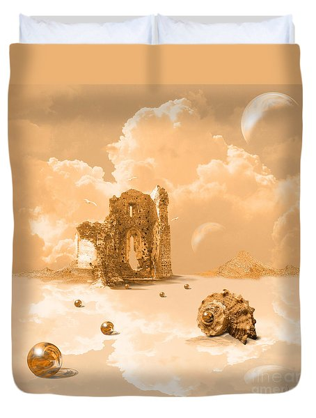 Landscape With Shell Duvet Cover