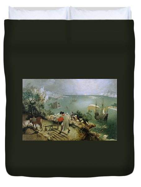 Landscape With The Fall Of Icarus Duvet Cover