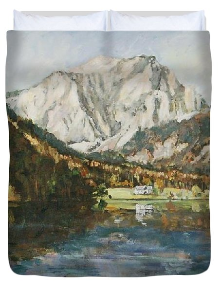 Langbathsee Austria Duvet Cover