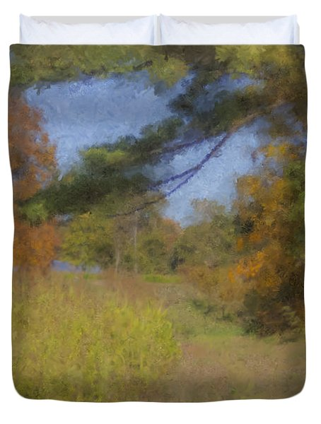 Langwater Farm Tractor Path Duvet Cover