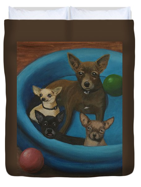 Lanice's Dogs Duvet Cover