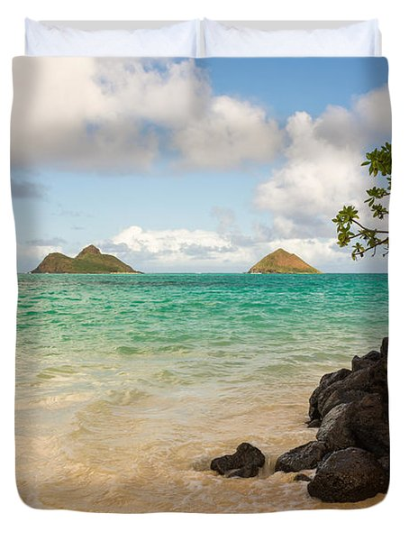 Lanikai Beach 1 - Oahu Hawaii Duvet Cover by Brian Harig