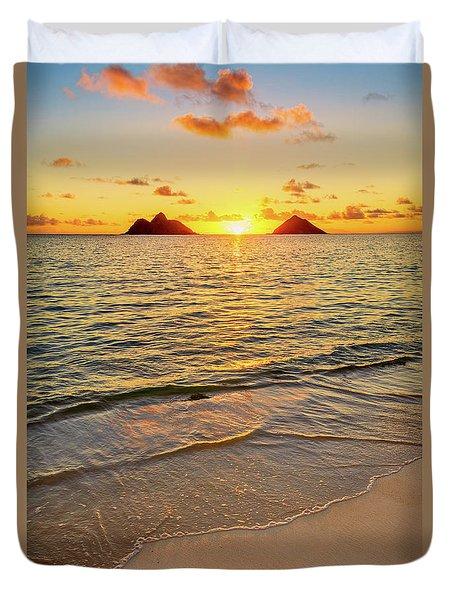 Lanikai Sunrise Between The Mokes Duvet Cover