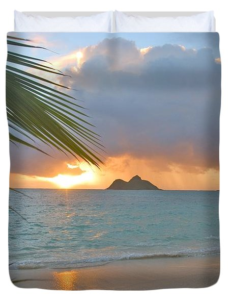 Lanikai Sunrise Duvet Cover