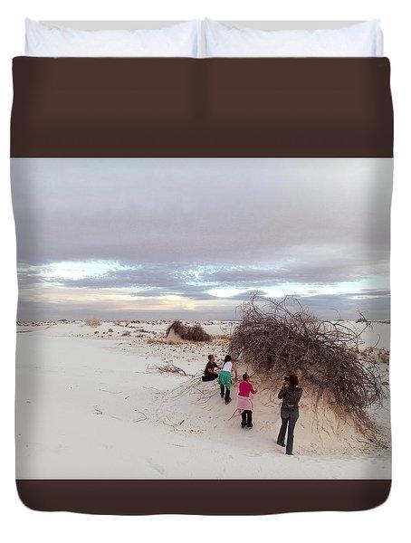Exploring The Dunes Duvet Cover