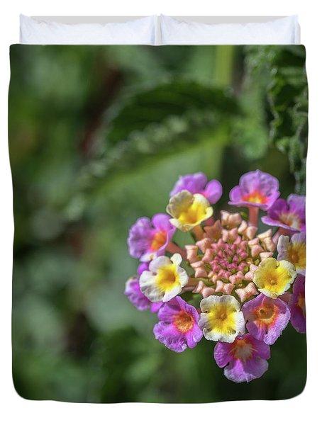Lantana In Bloom Duvet Cover