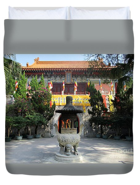 Duvet Cover featuring the photograph Lantau Island 45 by Randall Weidner
