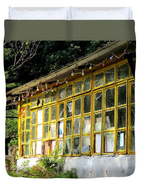 Duvet Cover featuring the photograph Lantau Island 46 by Randall Weidner