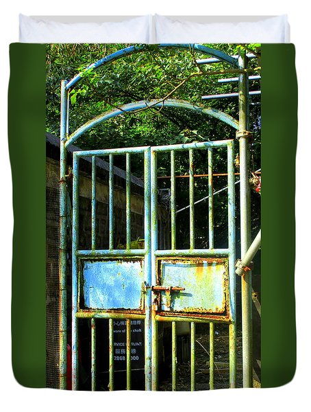 Duvet Cover featuring the photograph Lantau Island 48 by Randall Weidner