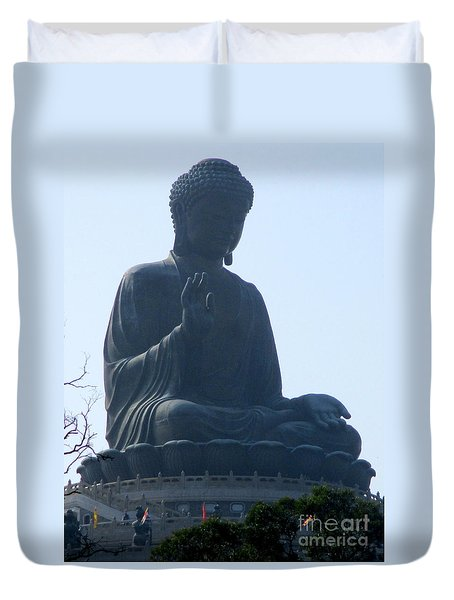 Duvet Cover featuring the photograph Lantau Island 49 by Randall Weidner