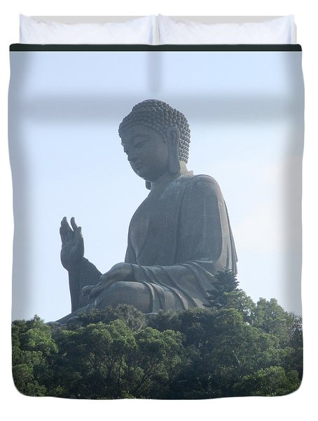 Duvet Cover featuring the photograph Lantau Island 50 by Randall Weidner