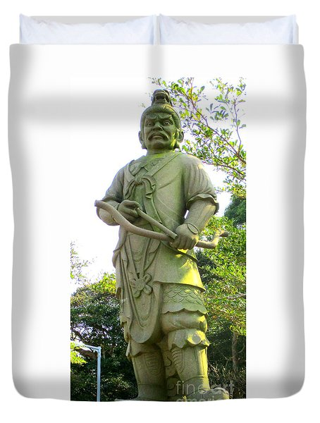 Duvet Cover featuring the photograph Lantau Island 52 by Randall Weidner