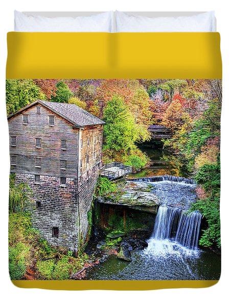 Lanterman's Mill And Bridge Duvet Cover by Marcia Colelli