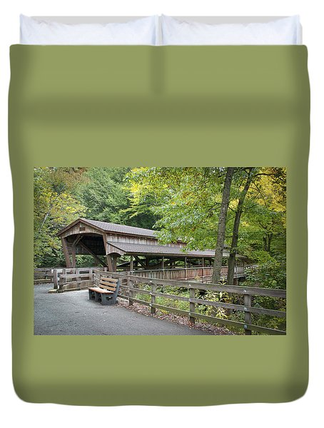 Lanterman's Mill Covered Bridge Duvet Cover