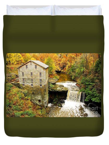 Lantermans Mill In Fall Duvet Cover
