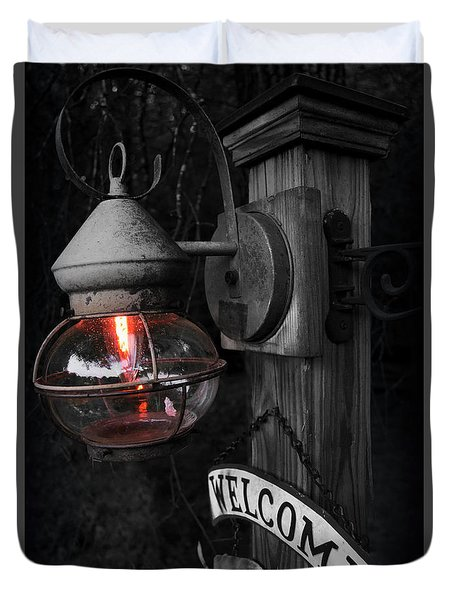 Duvet Cover featuring the photograph Lantern by Brian Jones