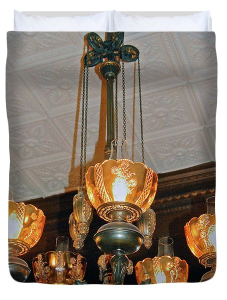 Lantern Chandelier Duvet Cover by DigiArt Diaries by Vicky B Fuller