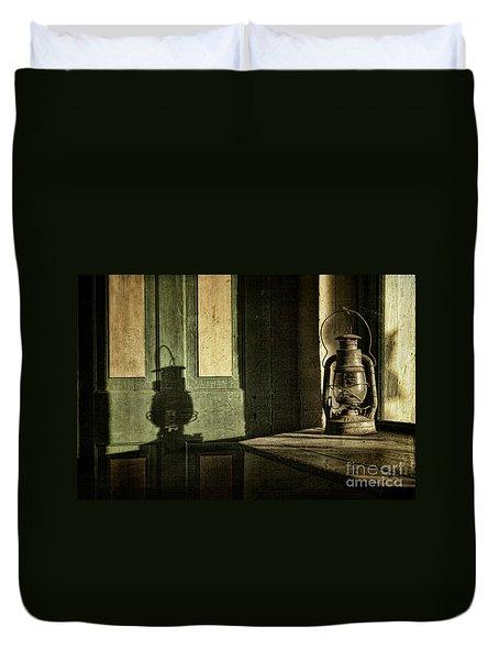 Lantern Shadow Duvet Cover by Sari Sauls