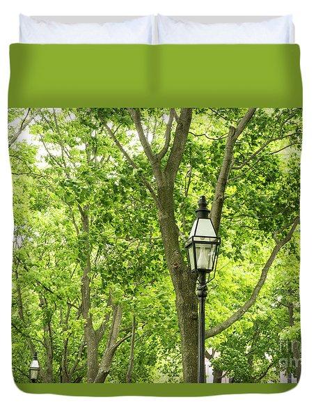 Lanterns Among The Trees Duvet Cover