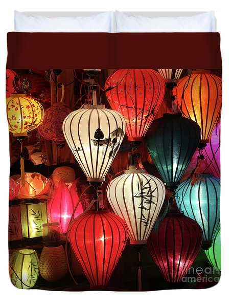 Lanterns Colors Hoi An Duvet Cover