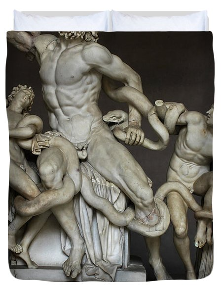 Laocoon And His Sons At The Vatican Duvet Cover
