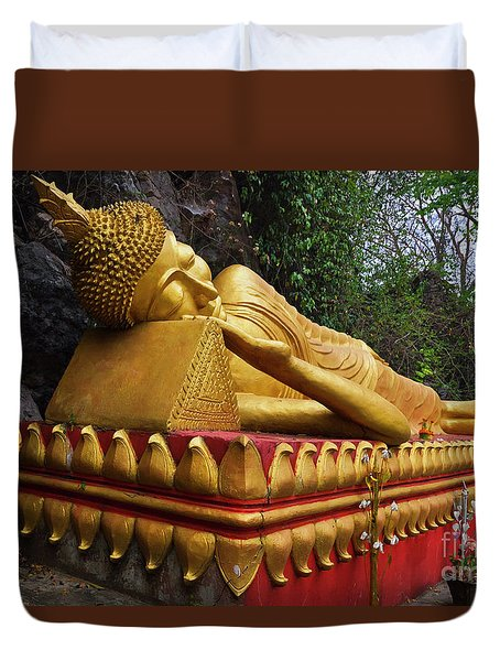 Laos_d602 Duvet Cover by Craig Lovell