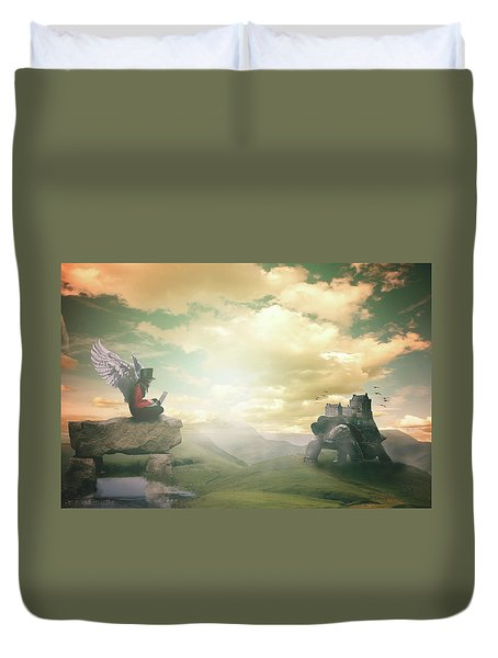 Laptop Dreams Duvet Cover by Nathan Wright