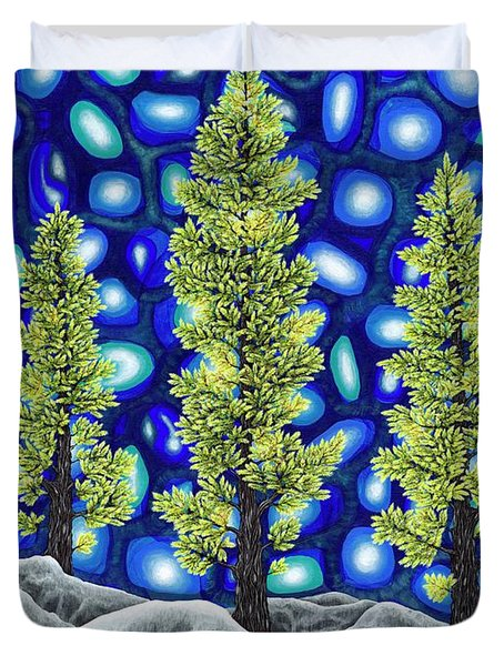 Larch Dreams 2 Duvet Cover by Rebecca Parker