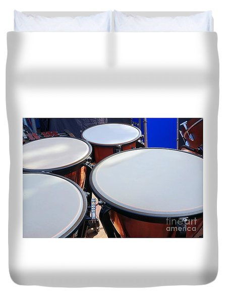 Large Copper Kettledrums Duvet Cover