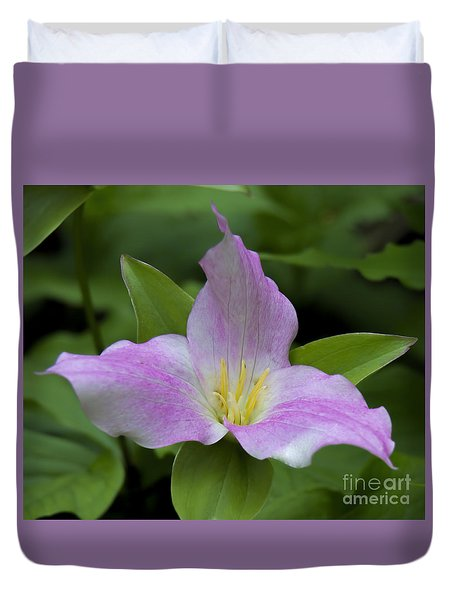 Duvet Cover featuring the photograph Large Flowered Trillium by Barbara Bowen