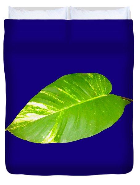 Duvet Cover featuring the digital art Large Leaf Art by Francesca Mackenney