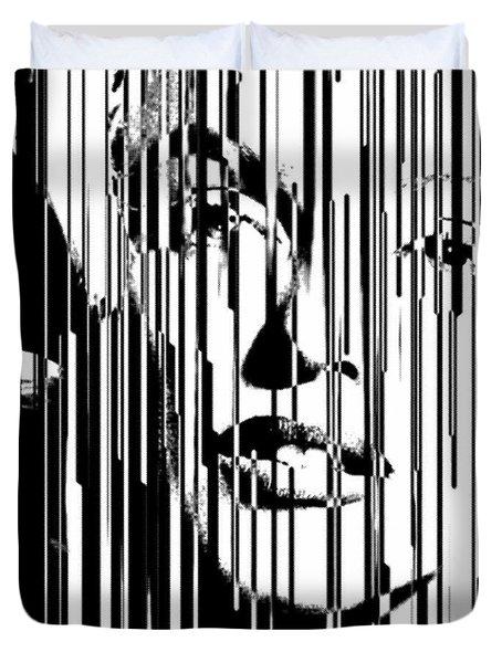 Large Marilyn Silkcreen 2017 Robert Erod Duvet Cover