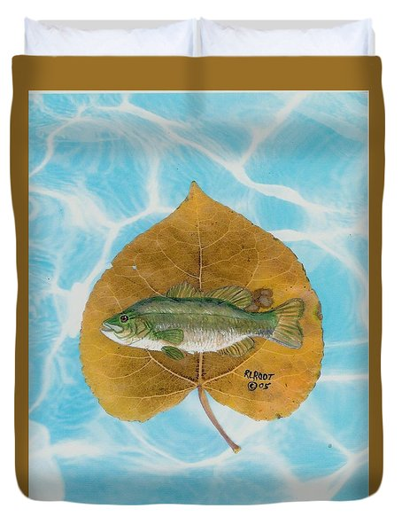 Large Mouth Bass #2 Duvet Cover by Ralph Root