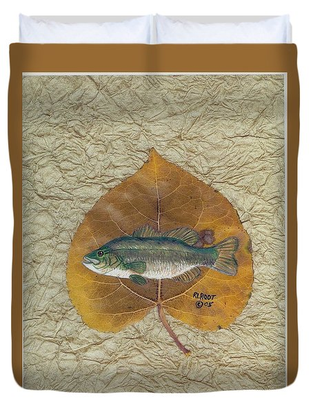 Large Mouth Bass #3 Duvet Cover by Ralph Root