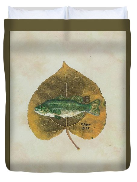 Large Mouth Bass Duvet Cover by Ralph Root
