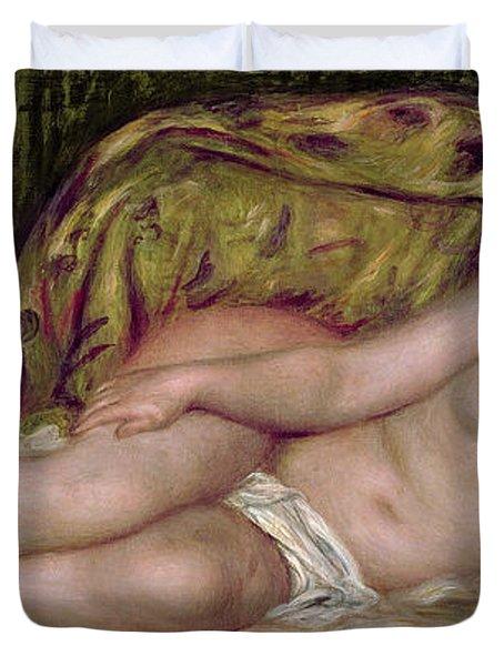 Large Nude Duvet Cover by Pierre Auguste Renoir
