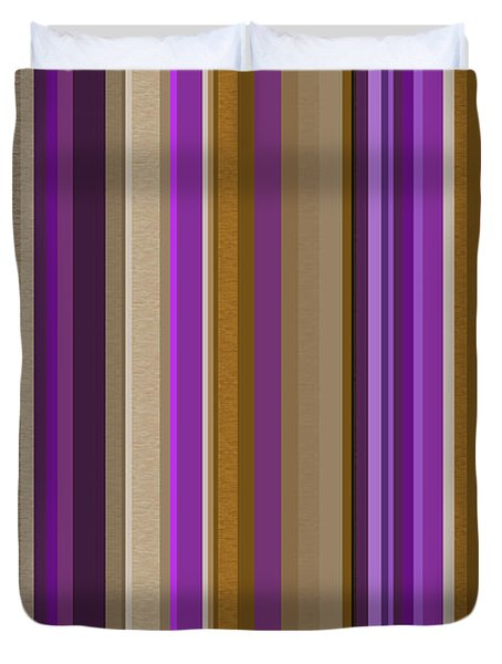 Large Purple Abstract - Three Duvet Cover