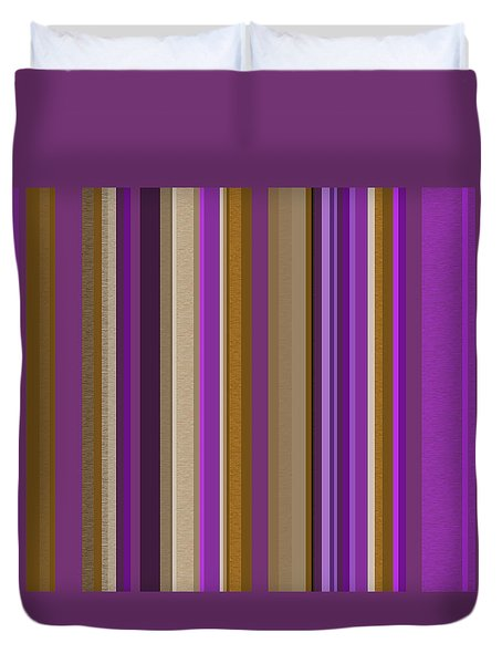 Duvet Cover featuring the digital art Large Purple Abstract - Three by Val Arie