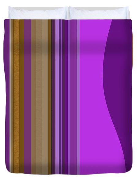 Duvet Cover featuring the digital art Large Purple Abstract by Val Arie