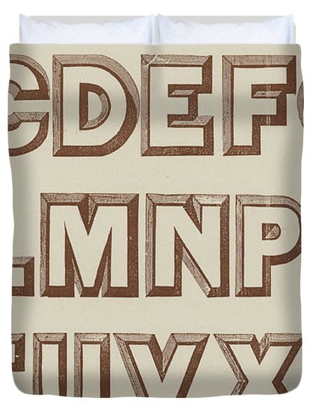Large Relief  Duvet Cover