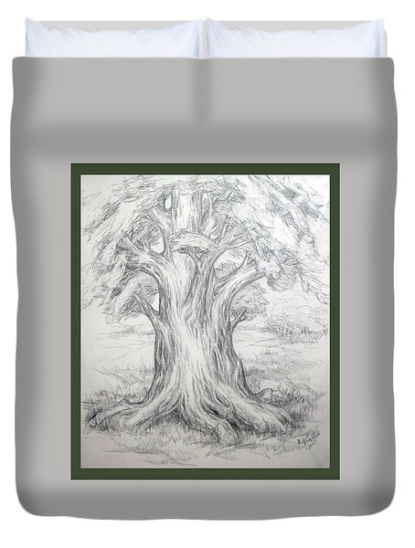 Large Shady Tree Duvet Cover by Ruth Renshaw