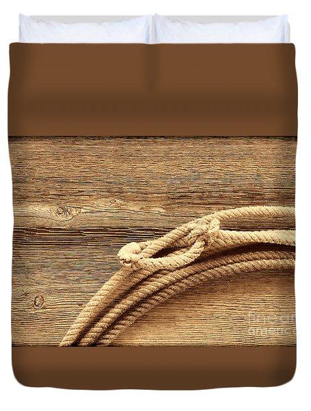 Lariat On Wood Duvet Cover
