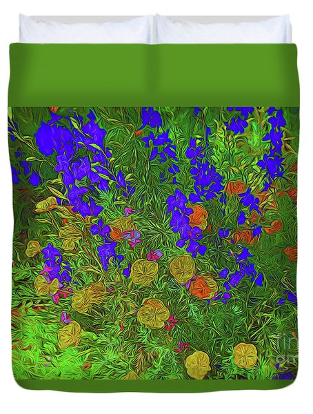 Larkspur And Primrose Garden 12018-3 Duvet Cover