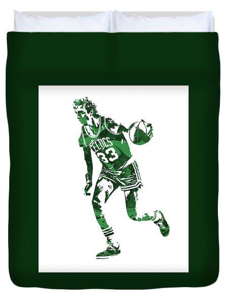 Larry Bird Boston Celtics Pixel Art 10 Duvet Cover