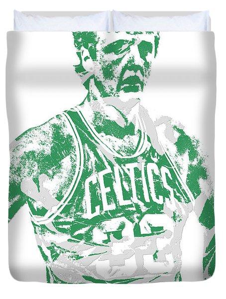 Larry Bird Boston Celtics Pixel Art 6 Duvet Cover