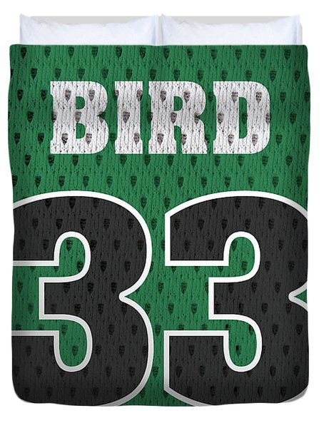 Larry Bird Boston Celtics Retro Vintage Jersey Closeup Graphic Design Duvet Cover
