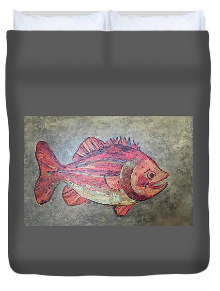 Larry Loud Mouth Duvet Cover