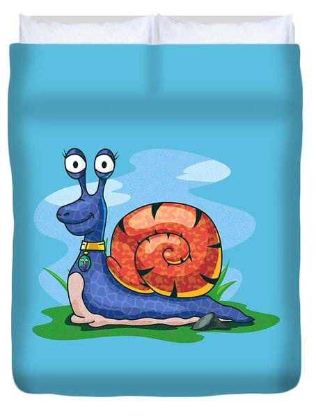Larry The Snail Duvet Cover