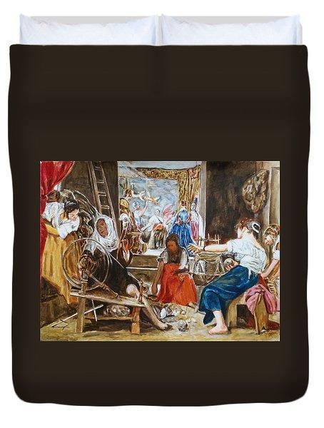 Las Hilanderas. Study Duvet Cover by Bachmors Artist